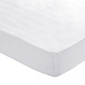 Baby Crib Fitted Sheet Fits Standard Size Crib Mattress - White, 2 Pack, 100% Cotton Sateen, for Maximum Softness and Easy Care by Utopia Bedding
