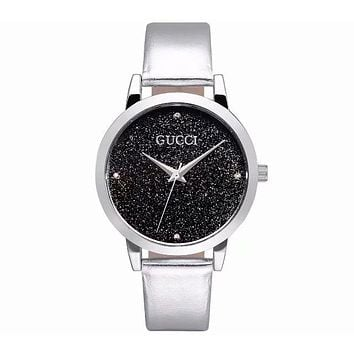 GUCCI 2018 pop starry high-end watches fashion trend simple watch F-CTZL Silver