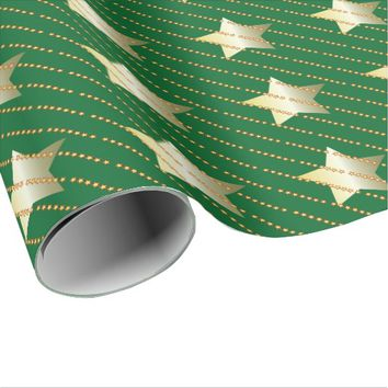 Star Christmas Wrapping Paper
