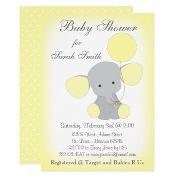 Best Yellow Gray Baby Shower Invitations Products On Wanelo