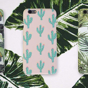 Original Leaf Cactus iPhone 7 se 5s 6 6s Plus Case Cover + Nice Gift Box