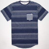 Lost Hey You Mens Pocket Tee Navy  In Sizes