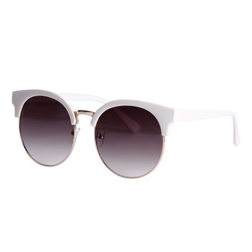 Cool Cat Round Circle Cat Eye Sunglasses
