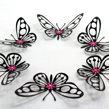 Black Butterflies,Butterfly wall art,Butterflies,3d butterflies,Paper butterflies,Wedding butterflies,Large butterflies,Wall butterflies