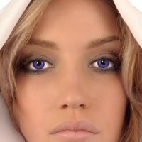 Mesmereyez Pure Violet Coloured Contacts (Prescription)