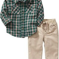 Flannel Shirt and Pants Set for Baby