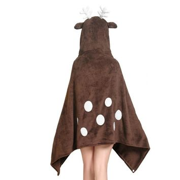 17 Styles Cute Hooded Blanket Women Men Adult Kids Cloak Wrap Cape  Totoro Chopper Rabbit Bear Panda RilakkumaKawaii Pokemon go  AT_89_9