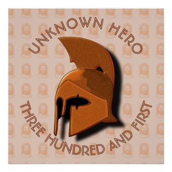 Unknown Spartan 301th Hero Greek Helmet Poster