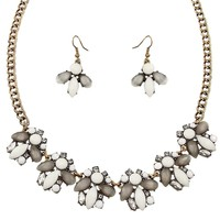 Charlotte Statement Necklace in White