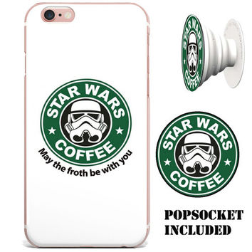"Starbucks Star Wars ""May The Froth Be With You"" Apple iPhone 6/6s (4.7 inch) (includes PopSocket)"