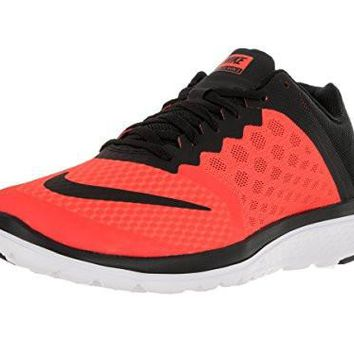 Nike Men's FS Lite Run 3 Total Crimson/Black/White Running Shoe 9.5 Men US