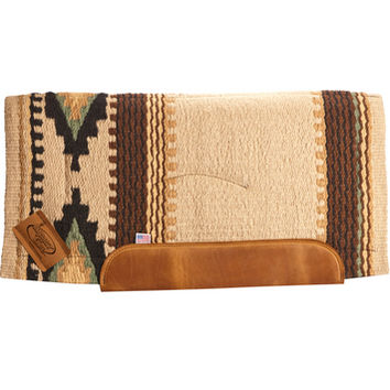Impact Gel Cowtown Contour Saddle Pad Cream/Brown