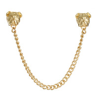 ASOS Bull Dog Collar Pins With Chain