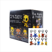 "fnaf officially licensed 5 nights at freddys 3"" figure hangers set of 10 toys includes:chase piece ""golden freddy"" five nights"