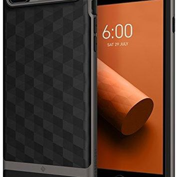 iPhone 8 Plus Case / iPhone 7 Plus Case Caseology [Parallax Series] Slim Protective Dual Layer Cover Geometric Design for Apple iPhone 8 Plus (2017) / iPhone 7 Plus (2016) - Black / Warm Gray