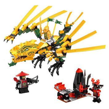 Compatible with Legoing Ninjagoes 70503 LELE 79112 252pcs blocks Ninjago Figure The Golden Dragon toys for children building