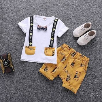 Cartoon Printed Summer Cotton Cute Baby Boy Outfits
