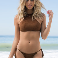 Billabong - Summer Suede Halter Top | Desert Daze