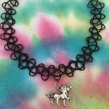Choose Your Choker, Unicorn Choker, Tattoo Choker, Cord Choker, 90s Choker, Pastel Goth, Soft Grunge, Grunge Choker