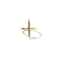 Tiny Dagger Ring - Gold