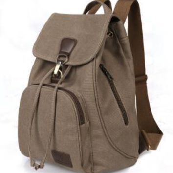 STYLEDOME Canvas Women Backpack Drawstring School Bags For Teena 9a5c076e6ca5