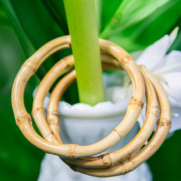 Bamboo Bangle - Tan