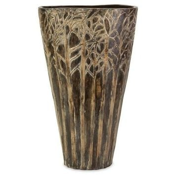 Branch Brown Pottery Vase