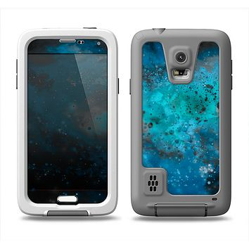The Blue and Teal Painted Universe Samsung Galaxy S5 LifeProof Fre Case Skin Set