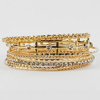 BKE Cross Bangle Bracelet Set