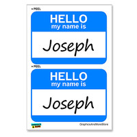 Joseph Hello My Name Is - Sheet of 2 Stickers