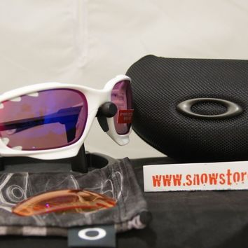 OAKLEY RACING JACKET VENTED MATTE WHITE PRIZM ROAD PERSIMMON BIKE GLASSES NEW C