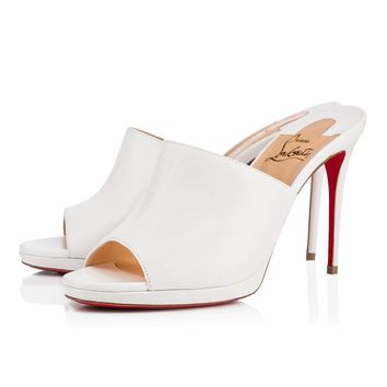 Christian Louboutin Cl Pigamule Latte Leather 18s Bridal 1181020wha8