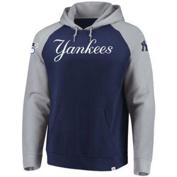 New York Yankees Majestic MLB Navy/gray Attitude Pullover Hoodie