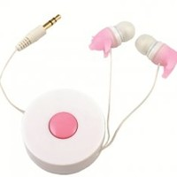 Retractable Piggy Earbuds Headphones