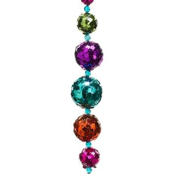 "24"" Multi-Color Sequined Disco Ball Christmas Garland - Unlit"