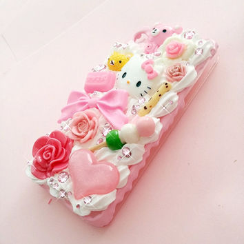 CUSTOM MADE -  Princess Hime decoden case for iPhone 4/5, Samsung, HTC, Android, iPod, Nintendo