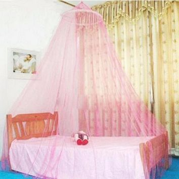1 pc Bohemian  Super Deal Elegant Round Lace Insect Bed Canopy Netting Curtain Dome Polyester Bedding Mosquito Net Home Furniture