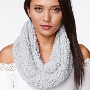 Kendall & Kylie Chenille Loop Scarf - Womens Scarves - Gray - One