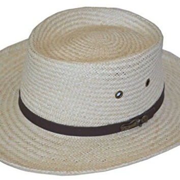 Scala Men's Gambler Shaped Palm Fiber Hat (L/xl)