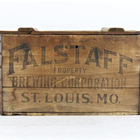 Vintage Beer Crate Falstaff Beer Crate Wood Beer Crate 1935 Falstaff Beer Crate Old Beer Crate Breweriana Wooden Beer Crate Vintage Beer