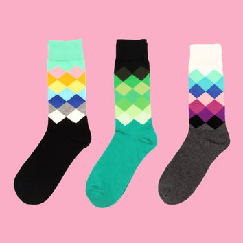 Argyle 3 Sock Set