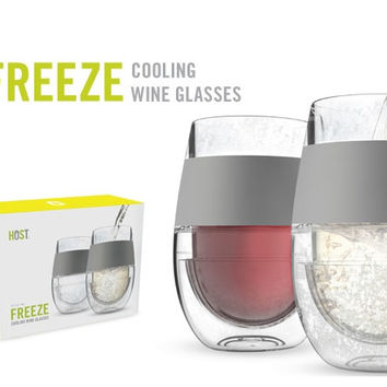 Freeze Cooling Wine Glass: Set of 2