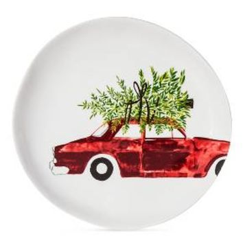Car with Tree 7.8in Melamine Appetizer Plate - Threshold™