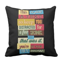 Funny quotes - Keep Reading Throw Pillow