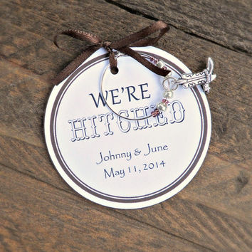 custom wedding and bridal shower wine charm favors were hit