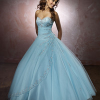 Lovely ball gown sweetheart floor-length light blue Quinceanera gown Vizcaya 86023 ,Quinceanera Dresses