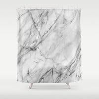 Marble Shower Curtain by Patterns And Textures | Society6