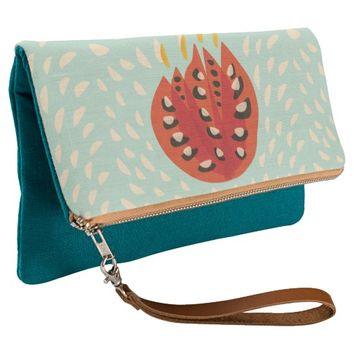 Decorative Beautiful Abstract Tulip Clutch