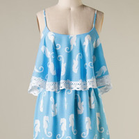 Sea Horse Dress Blue