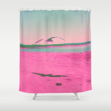 Beach Day Shower Curtain by Ducky B